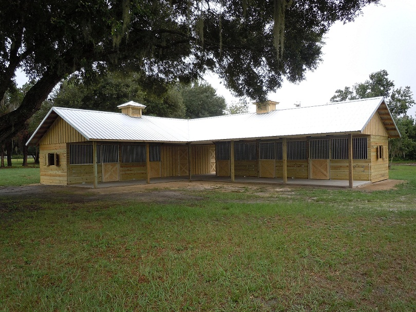 L shaped horse barns for L shaped shed